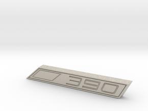 Cupra 390 Text Badge in Natural Sandstone