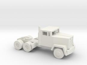 1/160 Scale M915 Tractor in White Natural Versatile Plastic