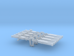 NEM OO Type 2 Couplings - Strait Instanter x4 in Smooth Fine Detail Plastic