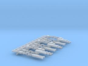NEM OO 3 Link Couplings - Sample Set in Smooth Fine Detail Plastic