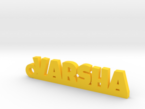 VARSHA_keychain_Lucky in Yellow Processed Versatile Plastic