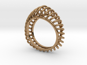 Birdcage Ring in Polished Brass