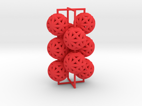 torus_pearl_loop_type4_thick in Red Processed Versatile Plastic: Medium