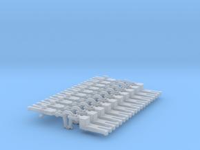 NEM OO Type 11 Couplings - Adaptor 3 Link x10 in Smooth Fine Detail Plastic