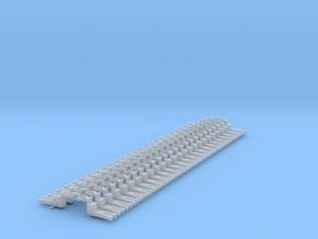 NEM OO Type 13 Couplings - Big-Step Up 3 Link x25 in Smooth Fine Detail Plastic