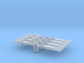 NEM OO Type 17 Couplings - Strait Instanter x4 in Smooth Fine Detail Plastic
