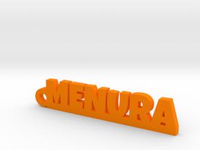 MENURA_keychain_Lucky in Orange Processed Versatile Plastic