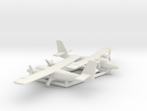 de Havilland Canada DHC-6 Twin Otter in White Natural Versatile Plastic: 1:350