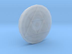 Triforce Amiibo figurine platform in Smooth Fine Detail Plastic