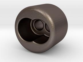 vape core steel bead 2ch in Polished Bronzed-Silver Steel