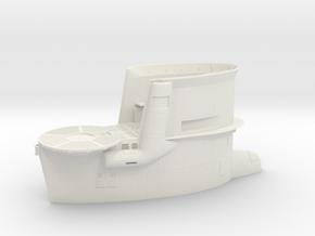 1/35 DKM Uboot VIIB Conning Tower in White Natural Versatile Plastic