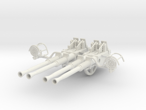 1/6 USN 40mm Quad Bofors Barrels Set v1 in White Natural Versatile Plastic