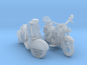 O Scale Motorcycle & Scooter in Smooth Fine Detail Plastic