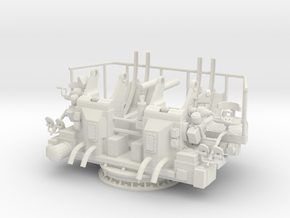 1/6 USN 40mm Quad Bofors Mount in White Natural Versatile Plastic