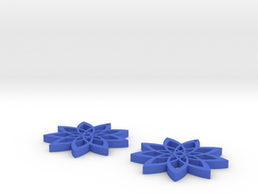 9-point Star Earring in Blue Processed Versatile Plastic