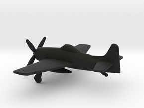 Grumman F8F Bearcat in Black Natural Versatile Plastic: 1:160 - N