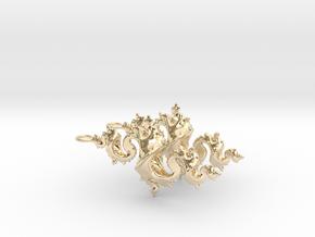 Dragon Earrings 4cm in 14K Yellow Gold