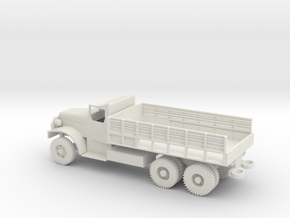 1/87 Scale White 6-ton 6x6 Cargo Truck LWB in White Natural Versatile Plastic