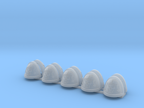 10 Imperial Jesters Shoulder pads in Smooth Fine Detail Plastic