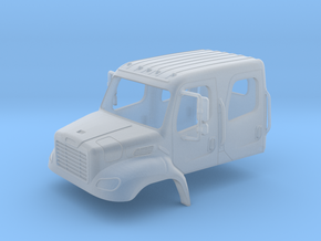 Freightliner Crew Cab Open Windows 1-87 HO Scale in Smooth Fine Detail Plastic
