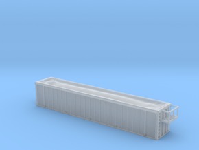 Trash Gondola 48foot - Zscale in Smooth Fine Detail Plastic