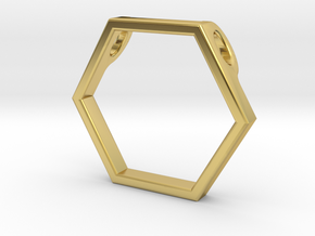 Honeycomb Pendant by BeeLove in Polished Brass