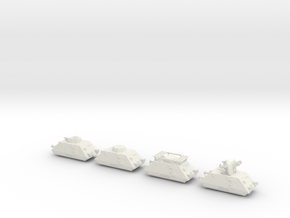 panzer Draisine 1/200 panzerzug  in White Natural Versatile Plastic