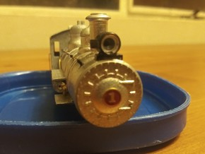 """63"""" HO/HOn3 Smokebox Front in Smooth Fine Detail Plastic"""