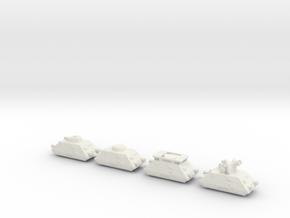 panzer Draisine 1/285 panzerzug 6mm in White Natural Versatile Plastic