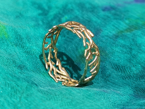 Ring - Rooted Collection in 14k Gold Plated Brass: 6.25 / 52.125