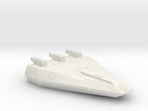 3125 Scale Hydran Grenadier Local Defense Cruiser in White Natural Versatile Plastic