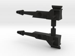 Gyrotron Guns in Black Natural Versatile Plastic: Medium