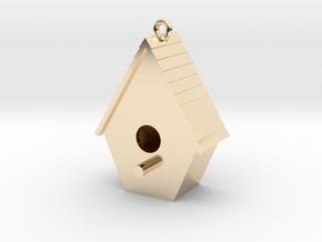 Birdhouse Pendant in 14K Yellow Gold