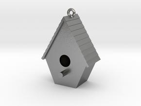 Birdhouse Pendant in Natural Silver