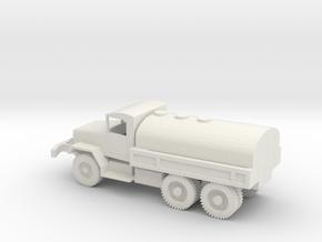 1/72 Scale M47 Tanker Truck in White Natural Versatile Plastic