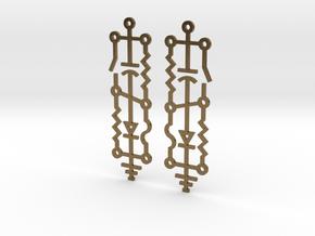 Electrical Circuit Earrings in Natural Bronze