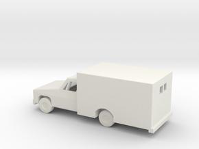 1/144 Scale Ambulance in White Natural Versatile Plastic