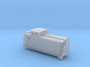 DMIR K1 Woodside Caboose - Zscale in Smooth Fine Detail Plastic