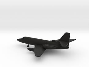 Lockheed C-140 JetStar in Black Natural Versatile Plastic: 6mm