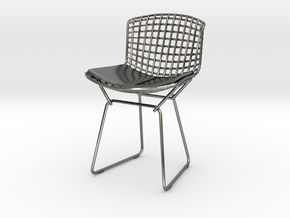 """Knoll Bertoia Side Chair 3.9"""" tall in Fine Detail Polished Silver"""