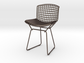 "Knoll Bertoia Side Chair 3.9"" tall in Polished Bronzed Silver Steel"