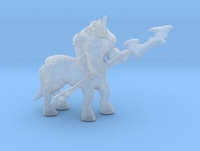 Armored Centaur DnD miniature fantasy games rpg in Smooth Fine Detail Plastic