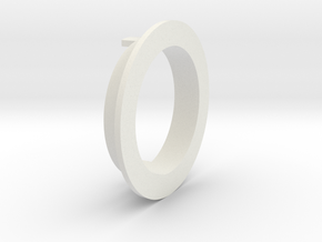 L sectioned ring in White Natural Versatile Plastic
