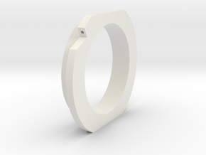 Outer Threaded Lock Ring in White Natural Versatile Plastic