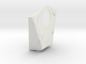 Lower Welded Steel Rear Bracket in White Natural Versatile Plastic