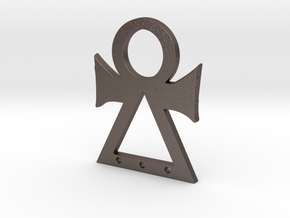 Tanit symbol in Polished Bronzed-Silver Steel