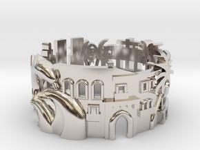Miami Cityscape Ring in Platinum: 7 / 54