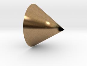 cone in Natural Brass