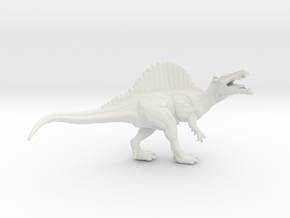 Spinosaurus 1/60 miniature for games and rpg in White Natural Versatile Plastic