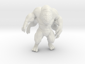 Brute 4 arms DnD miniature for games and rpg in White Natural Versatile Plastic